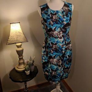 Kasper size 4 multicolored floral sleeveless dress